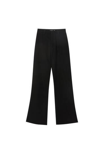 Pantalon évasé velours