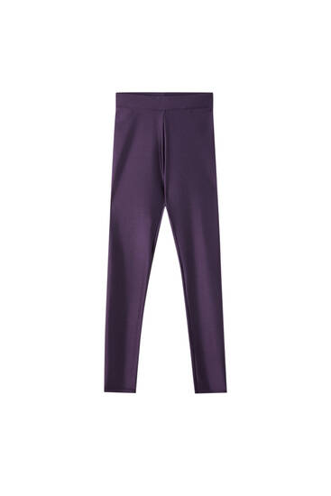 Legging morado brillo