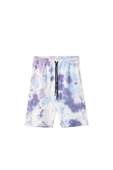 Sicko19 Sickonineteen by Nicki Nicole tie-dye Bermuda shorts