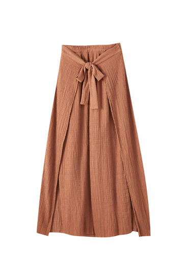 Wraparound belted culottes