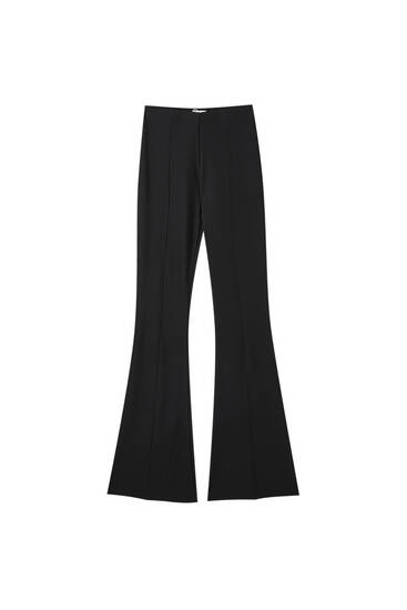 Flared ottoman trousers
