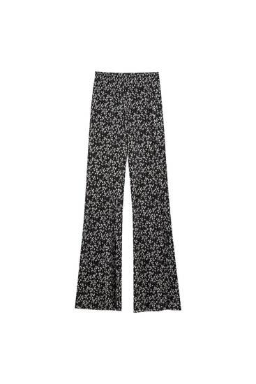 Plisserede bukser med svaj