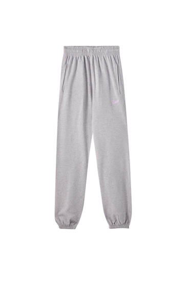 STWD işlemeli jogging fit pantolon