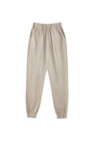 Pantalon jogger effet délavé