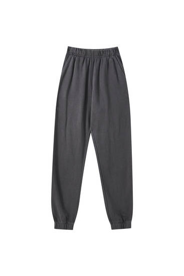 Soluk efektli jogging fit pantolon
