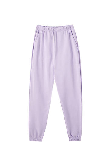 Basic lilac jogging trousers