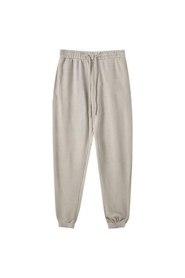 Pantalon jogger élastique dans le bas basique