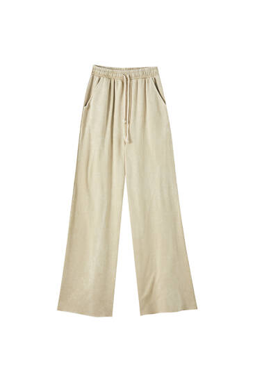 Faded wide-leg jogging trousers
