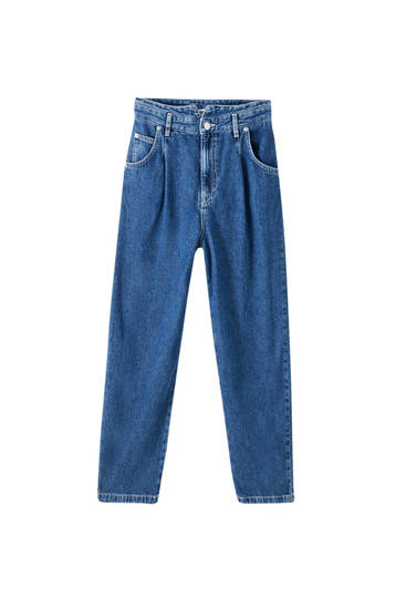 Slouchy, løstsiddende jeans