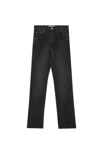 Paprasti plačiablauzdžiai džinsai