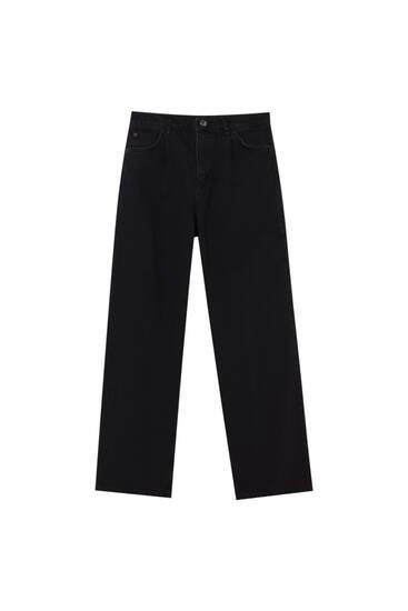 Gerade geschnittene Jeans mit hohem Bund.