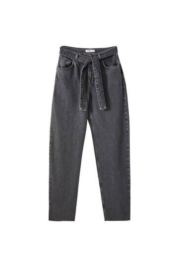 Sorte jeans med superbrede ben