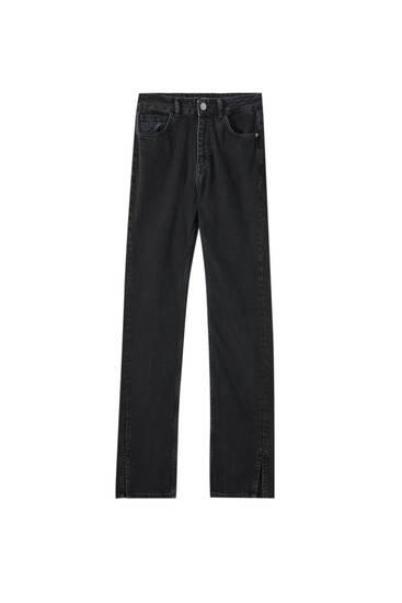 Jeans high waist detalle costura
