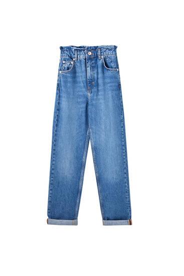 Paperbag mom jeans