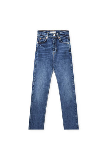 High-waist regular fit jeans