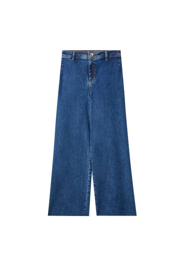 Cropped jeans without seams