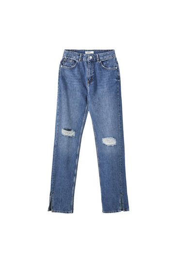 Jeans high waist rectos