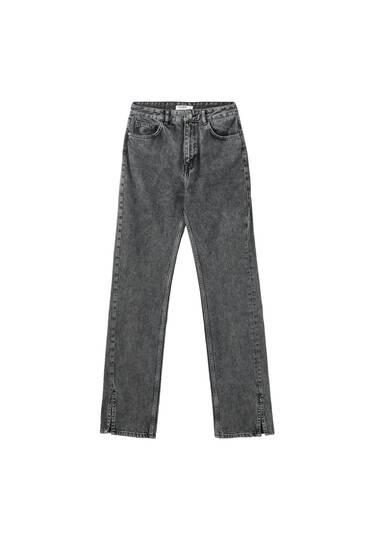 Gerade geschnittene Jeans mit hohem Bund