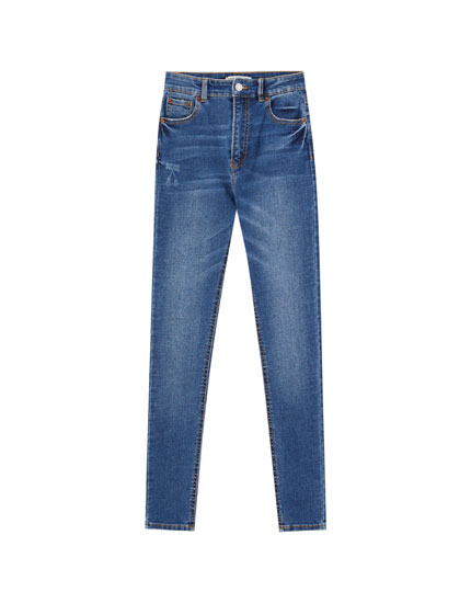 Jeans skinny basique taille haute