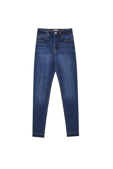 Jeans skinny fit de cintura subida capri