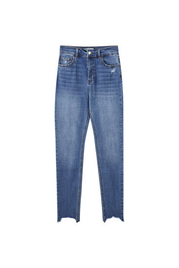 High waist skinny capri jeans