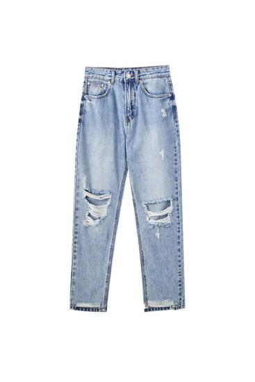 Jeans déchirés mom fit