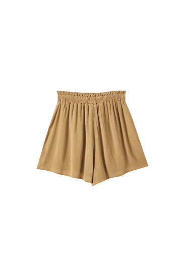 Basic crepe shorts