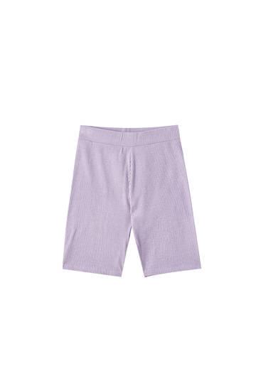 Lilac cycling shorts
