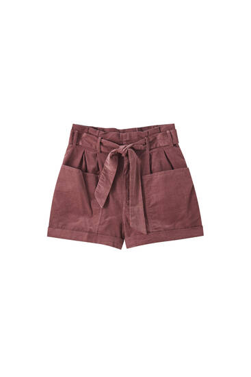 Needlecord Bermuda shorts