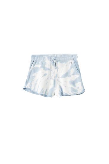 Pantalóns curtos tie dye