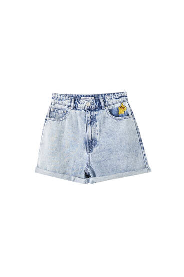 Denim Pokémon shorts