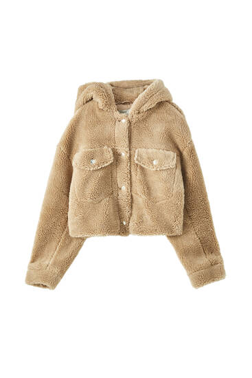 Teddy jacket with hood