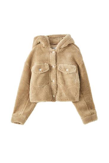 Teddy jacket with hood