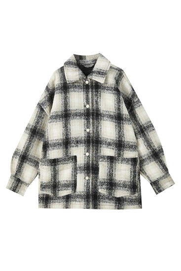 Checked overshirt with patch pockets