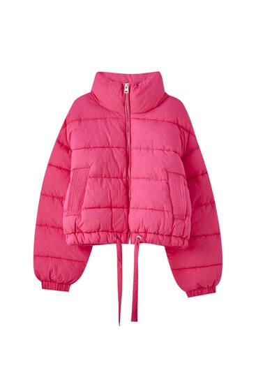 Стеганая куртка цвета фуксии