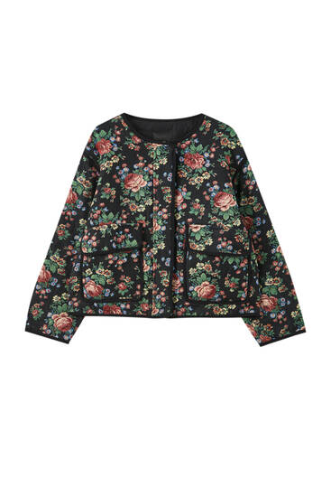 Jacke mit Blumenprint