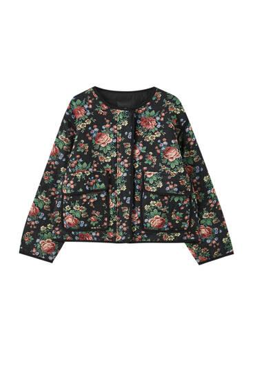 Blusão com estampado floral