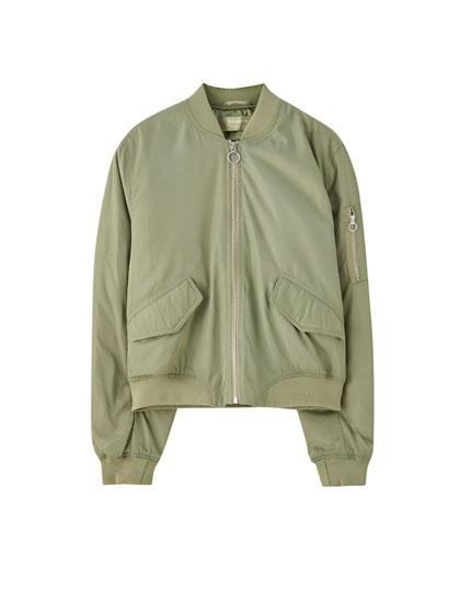 Basic coloured bomber jacket