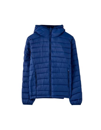 Basic vatteret, kort jakke i nylon