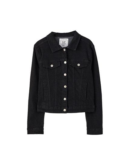 Basic fitted denim jacket