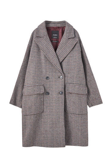 Manteau carreaux coupe masculine