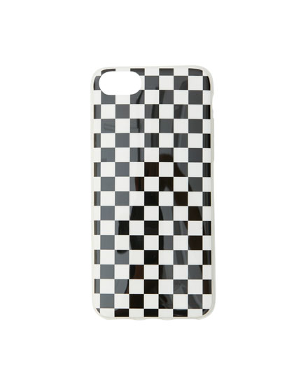 Chequered print smartphone case