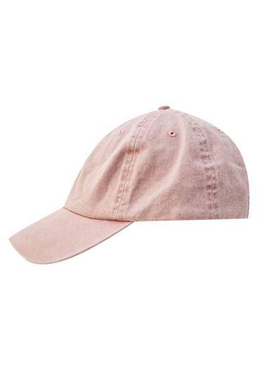 Pink cap with contrast lightning bolt