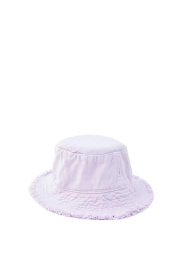 Gorro bucket lila desflecado