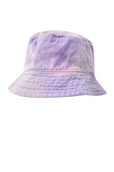 Tie-dye printed bucket hat