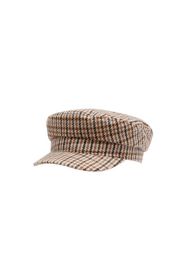 Houndstooth nautical cap