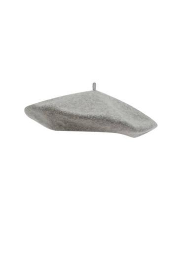 Boina paño gris
