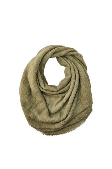 Basic faux linen scarf