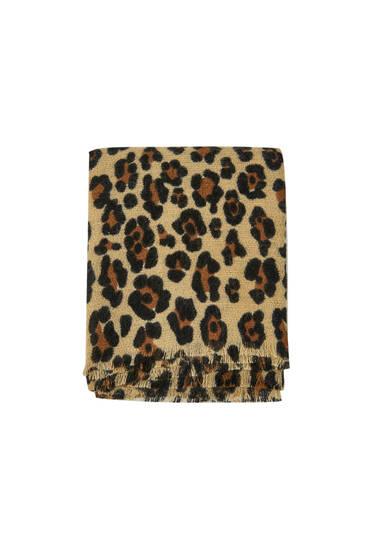 Sjaal met dierenprint