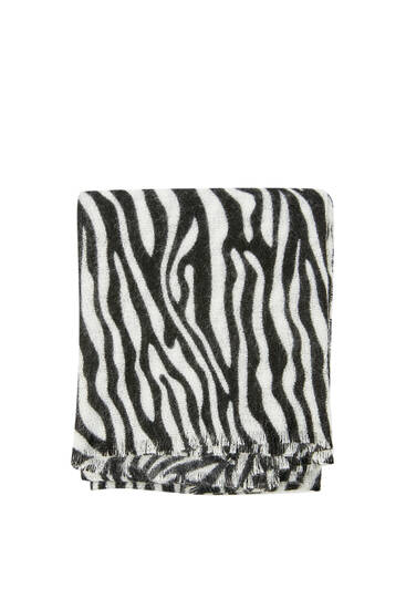 Bufanda animal print estanpatuarekin